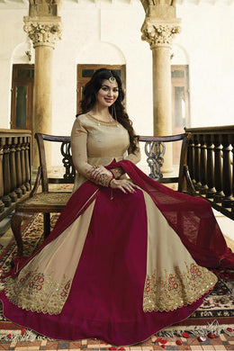 New Collection Cream Colour Georgette Salwar Suit