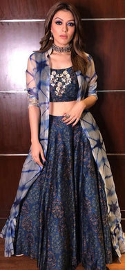 New Collection Navyblue Colour Chanderi Silk With Digital Prited Lehenga
