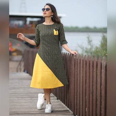 New Collection Yellow Colour Cotton Kurti