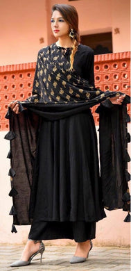 Attactive Black Colour  Pure Organic Heavy Rayon Salwar Suit