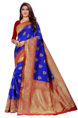 Royal Blue Pure Rapier Weaving Soft Silk Saree