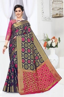 Grey & Pink Heavy Banarasi Silk Hand Woven Patola With Saree Collection