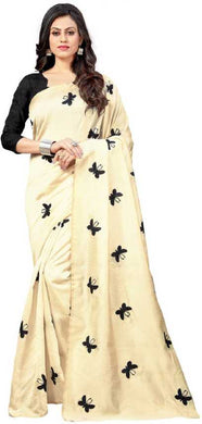 New Embroidered Bollywood Chiffon Saree (black)