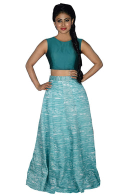 Green Awesome Attractive Banglory Silk Digital Printed Lehenga Choli