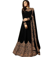 Party Wear Bollywood Designer Gblack Color Heavy Embroidered Georgette Suit