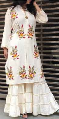 New Trendy Lattest Designor Offwhite Colour Heavy Embroiderey Work Salwar Suit