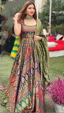New Designer Party Wear Look Gown With Dupatta