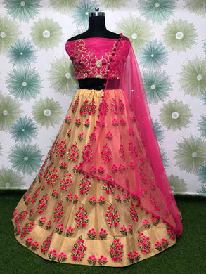 Chiku Color Heavy Net Embroidery Lehnga Choli With Duptta