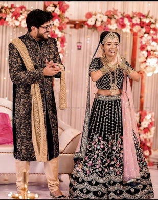 Black Color Embroidery Heavy Net Lengha Choli With Duptta
