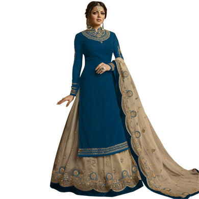 Party Wear Firogi Bollywood Heavy Faux Georgette Embroidered Plazzo Suit
