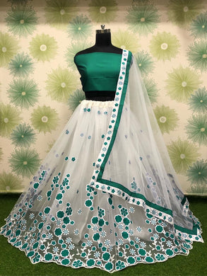 Firogi Color Wedding Party Net Embroidered Semi Stitched Lehenga Choli