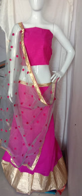 Amazing Pink Colour Georgette Lehenga