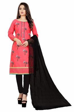 Soft Cotton Kurta & Churidar Unstitched Dress Material (pink)