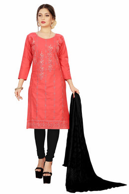Soft Cotton Kurta & Churidar Unstitched Dress Material