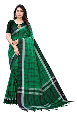 Hasini Green Linen Printed Saree