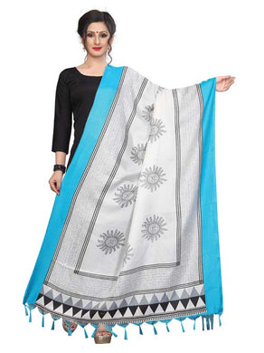 Blue Color D5 Art Silk Only Dupptta