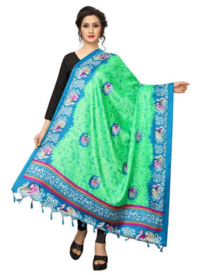 Green Color D9 Art Silk Only Dupptta