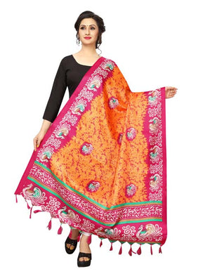 Orange Color D9 Art Silk Only Dupptta