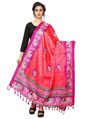 Pink Color D9 Art Silk Only Dupptta