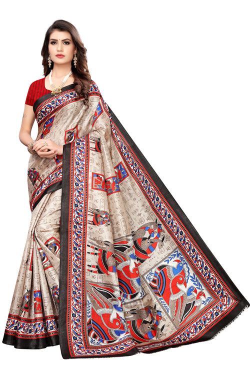 Vrinda Black Khadi Silk Saree