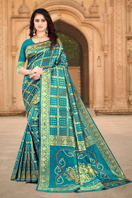 Firogi Color Banarasi Silk Printed Saree