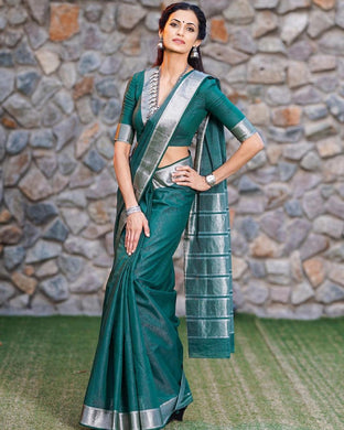Green Color Banarasi Sarees That Are Light On Your Skin And Uplift Your Wedding Shenanigans