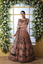 Peach Designer Santoon Gown