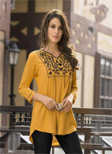 Yellow Color Heavy 14kg Reyon Kurti