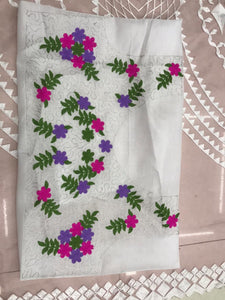 Pista Color Orgenza Silk With Heavy Embroidery Work