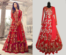 Red Color Bollywood New Soft Net Embroidered Heavy Gown