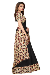 Sparrow Black Khadi Silk Saree