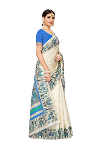 Vivo Blue Khadi Silk Saree