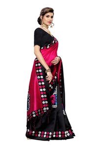 Manmohak Pink Art Silk Saree