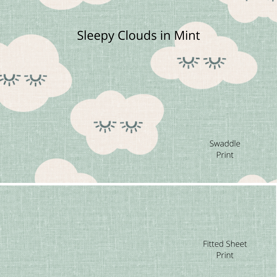 Custom Design Fabrics, Whimsical Skies - Organic Mini or Essentials