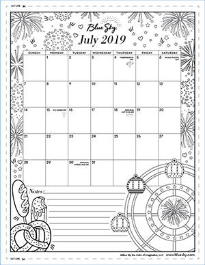 image about Monthly Printable Calendars known as Printable Calendars Blue Sky