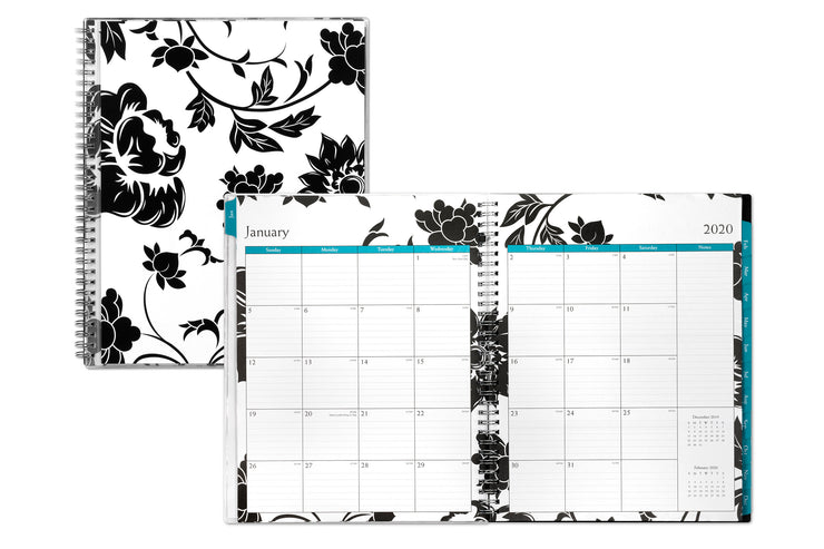 5x8 weekly planner in floral design