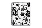 floral design, 2020 blue sky planner in white and black flowers 8.5x11