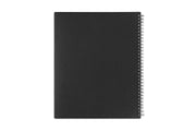 8.5x11 weekly monthly planner by blue sky with a charcoal back cover and silver twin wire-o binding