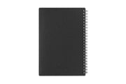 5x8 weekly monthly planner by blue sky with a charcoal back cover and silver twin wire-o binding