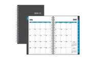 2020-2021 academic planner starting with a 2020 July monthly calendar spread with lined writing space and notes section