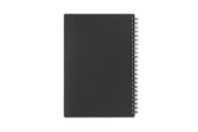 Blue Sky professional academic planner in 5x8 size with a flexible charcoal back cover and silver twin wire-o binding