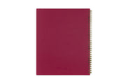 Blue Sky's mahalo 2020-2021 planner with a magenta flexible back cover and gold twin wire-o binding