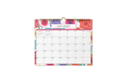 blue sky mahalo floral academic wall calendar for school year