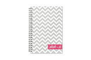 Blue Sky's ollie academic planner with white and gray zigzag pattern for 5x8 front cover and 2020-21 year