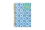 Weekly monthly planner for 2021 by day designer for blue sky with geometric tiles design