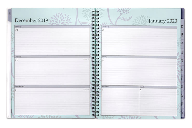 2020 weekly/monthly planner 8.5x11 in a floral design, rue du flore