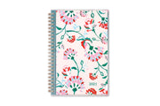 breast cancer awareness 2021 planner by blue sky featuring pink flowers and blush background on the front cover in a 5x8 size
