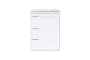 Blue Sky lined notepad with tear off sheets featuring custom dates, appointments, to do lists, reminders, and ample lined writing space for note taking