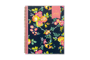 2021 weekly monthly planner in 8.5x11 size from day designer for blue sky with navy background and floral imprints
