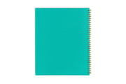 day designer 2021 weekly planner with a mint backcover and gold twin-wire binding 8.5x11